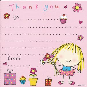 Ballerina Thank You Note
